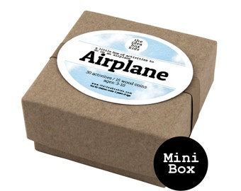 Mini Box Activities for Kids on Airplane, Flying with Kids, Kids Travel Activities, Airport Activities, Airplane Travel Kids, Family Travel