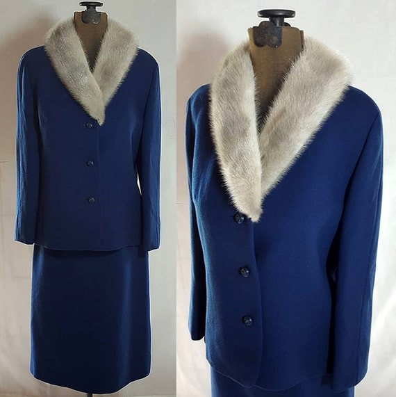 Blue Wool Suit, Fur Collar, Mad Men, Thoma Modell, Norwegian Wool
