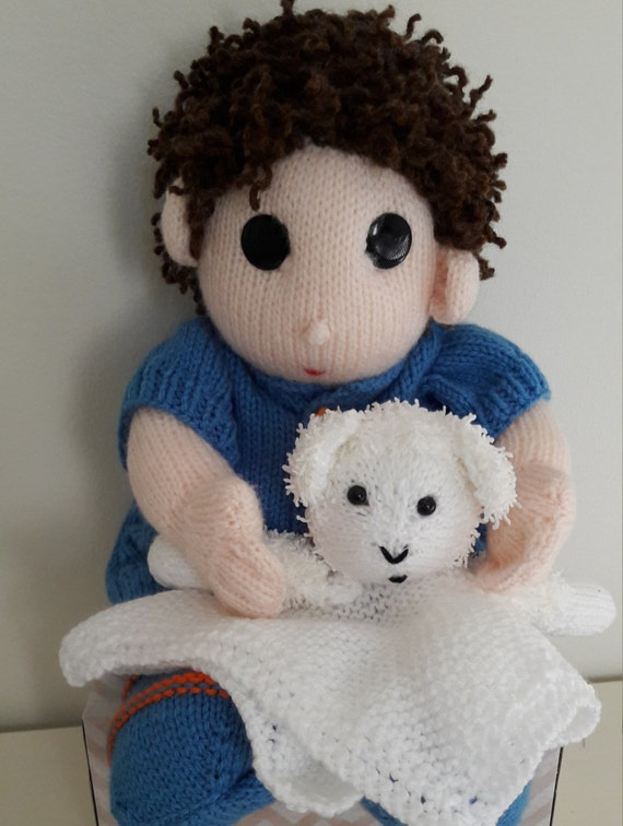 Items similar to Baby Boy. Knitted Baby . Baby with Lovey ...
