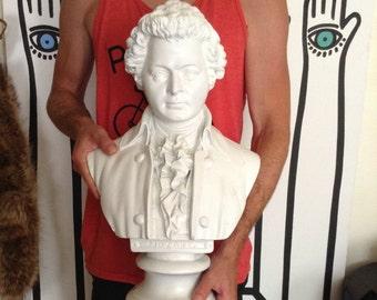 Mozart bust statue