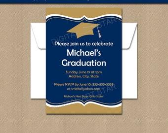Graduation Invitation INSTANT DOWNLOAD, Graduation Invitation Printable Template, Downloadable Grad Party Invitations, Editable Sign G1