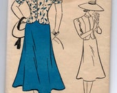 "1930's New York Skirt and Princess Blouse Pattern - Bust 32"" - No. 1122"