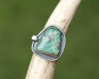 Variscite Ring, Statement Ring, Cocktail Ring, Size 9 Ring, Unisex Ring