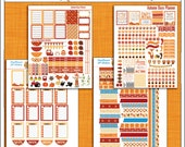 Autumn Days Printable Planner Stickers for Happy Planner 4 PDFs Owls, Pumpkins, Weekend Banners, Titles, Icons and more