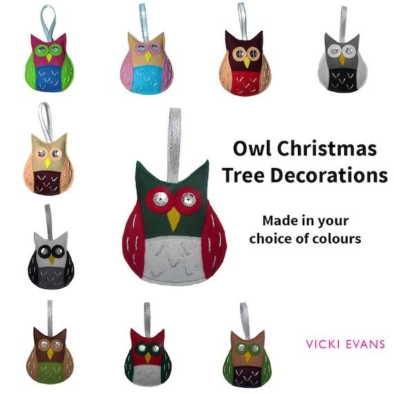Christmas Tree Decoration Owl : Owl christmas tree decorations