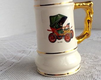Vintage Henry Ford Museum Dearborn Michigan Souvenir Stein / Antique Cars Collectible China Cup