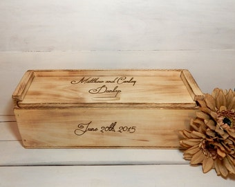 Wedding Wine Box for Rustic Wedding Personalized, Wine Boxes, Wine Ceremony