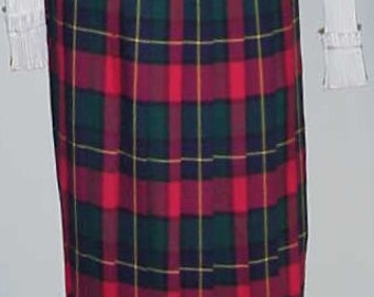 Tartan Skirt-Pleated  Plaid Skirt  Made In Scotland   Sz 10