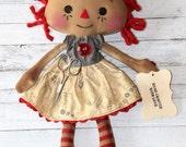 Sewing Mini Emma Anne - Primitive Raggedy Ann Doll (HAFAIR)