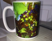 Grape Vine  Large Coffee Mug 15 Oz