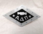 Wooden Large Alpha Delta Pi Badge/Pin Sign