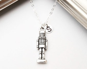 Nutcracker Necklace, Sterling Silver Chain, Nutcracker Ballet, Personalized, Girls Necklace, Ballet, Christmas Necklace, Christmas Gift Idea