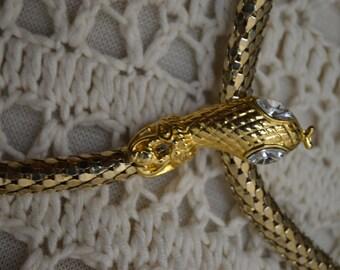 Vintage 1950s/60s Gold Snake Belt/Necklace
