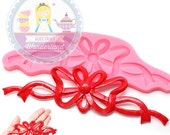 Ribbon Bow Lace Mat Silicon Mold 481L Silicone Mold Cupcake Topping Fondant Mold Sugar Cookie mold fimo clay mold BEST QUALITY