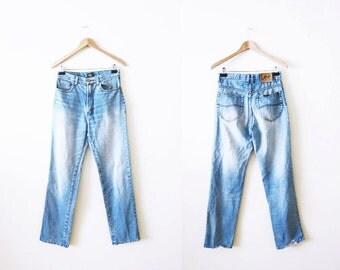 Vintage Mom Jeans / Lee Denim Jeans / Boyfriend Jeans / 90s Grunge Denim / 27