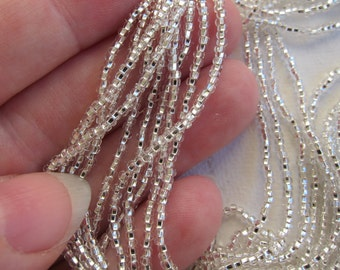 11/0, Preciosa Seed Beads, Silver-Lined Crystal Clear, #78102 - 1/2 & Full (12-strand) Hanks are Available from the 'Select an Option' menu