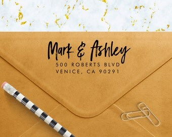Custom Address Stamp - Personalized Self Inking Return Address Stamp - Envelopes Stationary Weddings