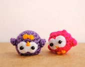 Cute owl matching keychains, owl couple decor, colorful and soft keychain, Made to order