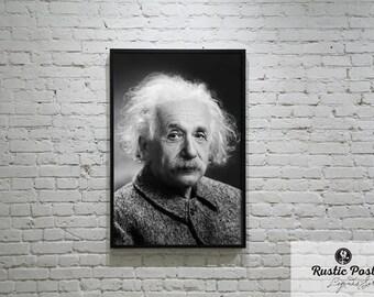 Albert Einstein Print, Wall Decor, Wall Art