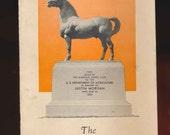 vintage booklet, paper ephemera, brochure, Morgan horse, 1935