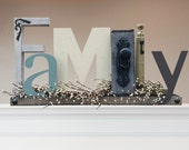 FAMILY Sign / Fireplace Family Sign / Mantle Sign / Family Sign for Shelf / Family Sign for Cabinet / Family Sign