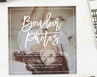 Boudoir Template, Boudoir Marketing, Boudoir Photography, Boudoir Mini Sessions, Valentine's Marketing Template  - AD211