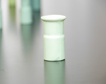 "Mini porcelain vase ""Rohr15"", small vase, contemporary vase, industrial design, white small flower vase, miniature porcelain vase"