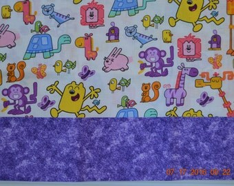 Cute Childs Pillowcase with Cartoon Critters