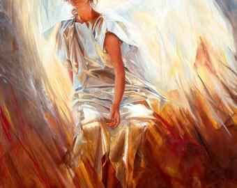 Angel, oil on canvas Giclée print