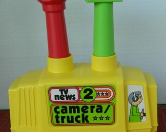 Creative Playthings TV News Camera Truck, #76330, 1980s, Made in USA, Original Box, Very Good Vintage Condition