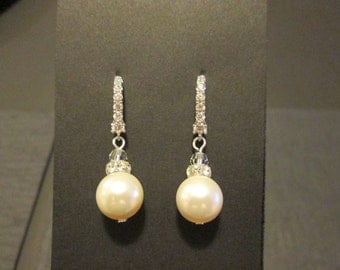 Cream Pearl Bridesmaid Earrings/ Bridal Jewelry/ Bridesmaid Jewelry/ Pink Pearl Earrings/ White Pearl Earrings/