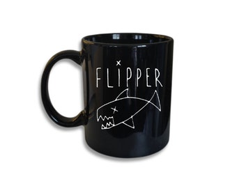 Flipper Ceramic Coffee Cup  (11 oz Coffee Mug)