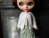 RESERVED for Denise - Blythe Doll Knitted Alpaca Cardigan - Off White