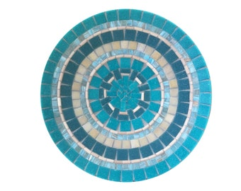 Mosaic Bowl, Table Centerpiece, Housewarming Gift, Beach House Decor