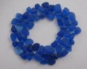 Blue Seaglass Gem, Beach Sea Glass Blue, Jewelry Supply, Genuine Beach Glass Bulk, Seaglass Craft Making Supply