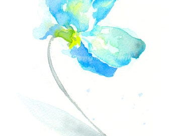 Flower, flower print, Watercolor print, fine art giclee print, Sweet Pea, Original, abstract watercolor, watercolor giclee print