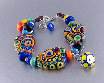 Michou Pascale Anderson - Safari - Lampwork - Art Glass Bracelet
