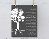 Sister In Law Gift, Birthday Wedding, from Groom, Bride, Family Tree Poem, Bridesmaid, Maid of Honor, Personalized Art Print 8x10
