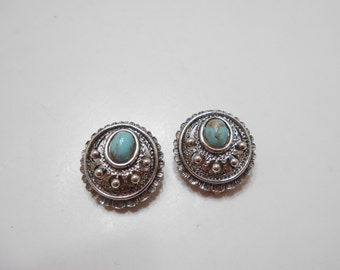 "Vintage Sarah Coventry (4202) ""Indian Treasures"" Clip Earrings"