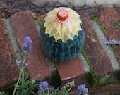 Sunflower Jar - hand-thrown, stoneware pottery, cookie jar, biscotti jar, canister