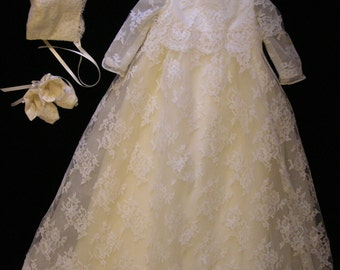 Andrea's Custom Christening or Baptism Gown made to order from your Wedding Dress