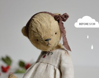 SALE 15% OFF Made To Order Yellow Teddy Bear Antonina Stuffed Toys Animals