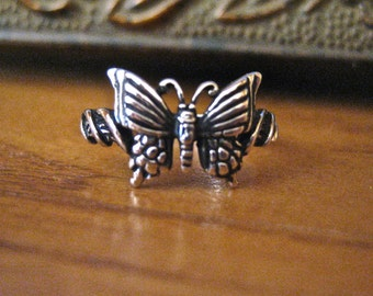 Vintage 925 Sterling Silver Butterfly Ring