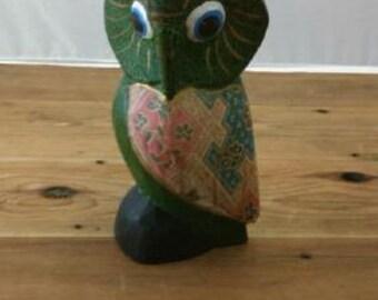 Vintage Paper Mache Owl