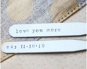 Custom Hand Stamped Collar Stays - Dad Gift - I Love You Daddy - Daddy's Girl - Custom Collar Stays