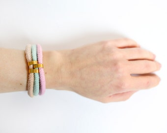 Candy Shop - Bracelet in mint, rose and nude