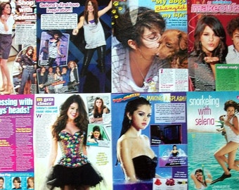 SELENA GOMEZ ~ Wizards Of Waverly Place, Love You Like A Love Song, Same Old Love, Hands To Myself ~ Color Articles f Scrapbooking - Batch 3