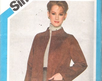 """Vintage 1981 Simplicity 5263 Beginners Choice Level 3 Misses Unlined Jacket Sewing Pattern Size 20 Bust 42"""" UNCUT"""