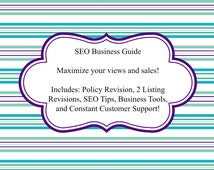 SEO Business Guide to Etsy, How to Create a Successful Shop, Etsy Aid, Etsy Tools, Business Plan, New Business Checklist