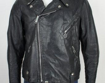 Vintage Classic Brooks Leather Motorcycle Jacket size M/L